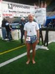 Todd Barefootin' at Seattle Marathon